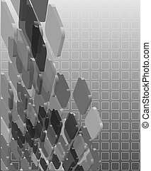 抽象的, grayscale, 透明, 構成