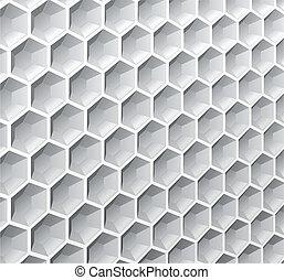 抽象的, hexagons., 背景