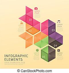 抽象的, infographics, スタイル, poly, 低い