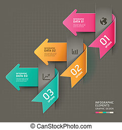 抽象的, infographics., 矢