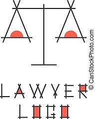 抽象的, logotype, 弁護士, スケール