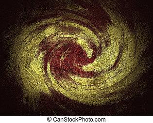 抽象的, mixed., 背景, 金, 赤