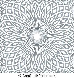 抽象的, pattern., 幾何学的, 放射状
