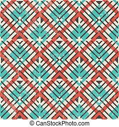 抽象的, pattern., seamless, バックグラウンド。, レトロ, 幾何学的