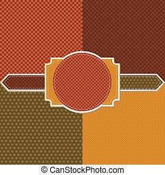 抽象的, pattern., seamless, バックグラウンド。, レトロ, 流行, 幾何学的