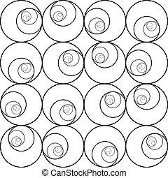 抽象的, pattern., seamless, 背景, vector.