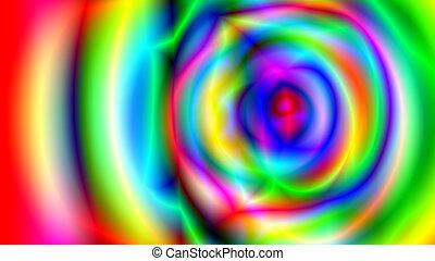 抽象的, psychedelic, 多彩, 背景