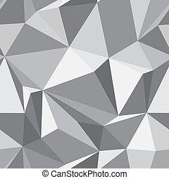 抽象的, seamless, 手ざわり, -, 多角形, 背景, -, ベクトル