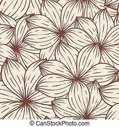 抽象的, seamless, 手ざわり, flowers., ベクトル, 背景