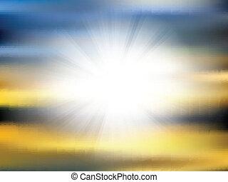 抽象的, sunburst, 背景, 3107