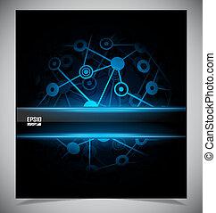 抽象的, techno, 滑らかである, カラフルである, 背景