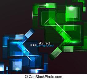 抽象的, techno, 背景