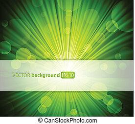 抽象的, text., 緑の背景, 場所, あなたの