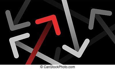 抽象的, undirected, 線, 矢, 動き