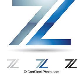 抽象的, z, 手紙, アイコン