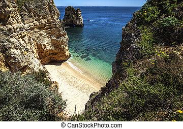 拉各斯, algarve, 海灘, 葡萄牙