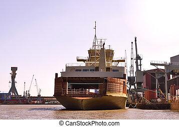 拋錨, 船, 工業