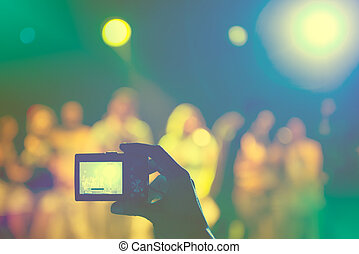 拍照, 在, a, 音樂會