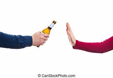 拒否, アルコール, ジェスチャー