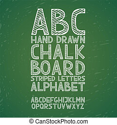 拖拉, grunge, abc, 字母表, 描述, 手, 粉笔, 矢量, 抓痕, 黑板, 黑板, 字体, 类型, ...