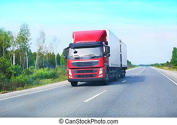拖車, 去, 高速公路