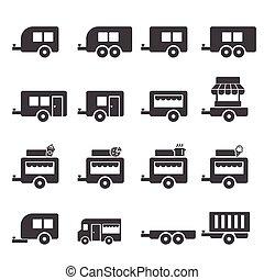 拖車, 圖象