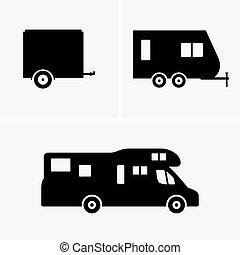 拖車, 汽車