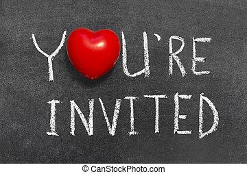 招待された, あなた