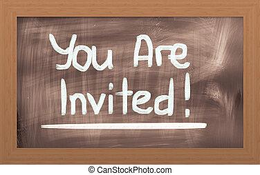 招待された, 概念, あなた