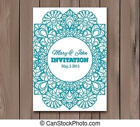 招待, カード, テンプレート, 結婚式