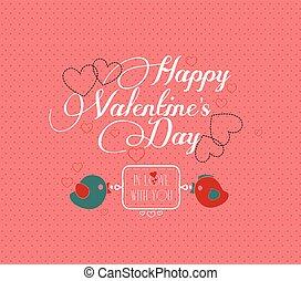 招待, カード, バレンタイン