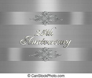 招待, 第25, 結婚式, 銀, 記念日
