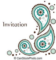 招待, 結婚式, カード