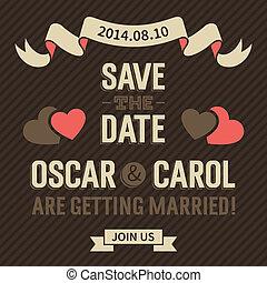 招待, 結婚式, 型
