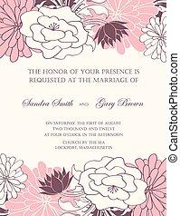 招待, 結婚式, 花