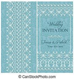 招待, 青, バロック式, 結婚式