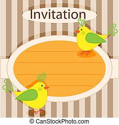 招待, card-birds