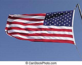招手, 美國旗, 1