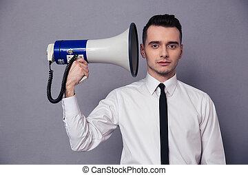 拡声器, ビジネスマン, 保有物
