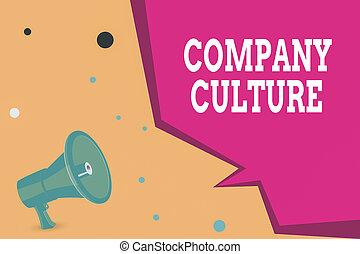 拡声器, bubble., 概念, 形, 半分, 執筆, 幾何学的, 要素, 仕事, 写真, 会社, ブランク, ビジネス, culture., 環境, 手, メガホン, 従業員, テキスト, 提示, スピーチ