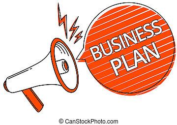 拡声器, plan., 概念, 財政, 構造, ビジネス, テキスト, 目的, ストライプ, 作戦, message., 意味, 重要, スピーチ, ゴール, オレンジ, 手書き, メガホン, 泡, 予測