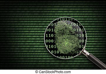 拡大鏡, オンラインで, 指紋