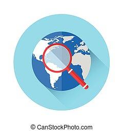 拡大鏡, 世界的である, 捜索しなさい, アイコン