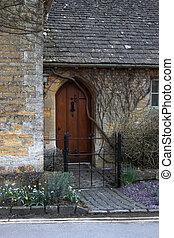 拱形, 木制, 前門