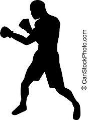 拳击手, 侧面影象