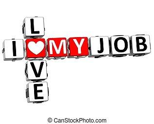 拼字游戏, 工作, 爱, 我, 3d