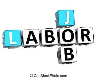 拼字游戏, 工作, 3d, 天, 劳动