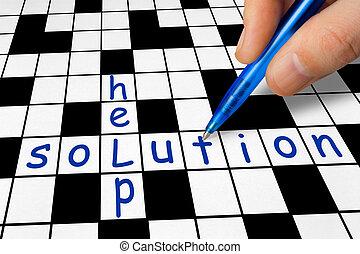 拼字游戏, -, 帮助, 解决