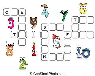 拼字游戏, 数字