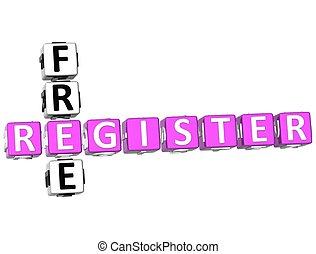 拼字游戏, 登记, 自由